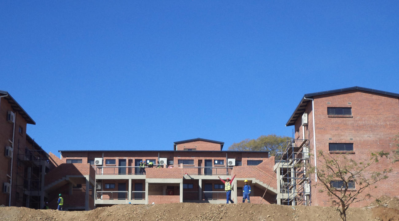 Photo of Corobrik's quality product used for largest all-facebrick social housing project in Pietermaritzburg